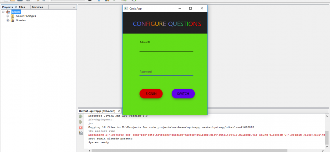 Simple Quiz Application In Java With Source Code | Source