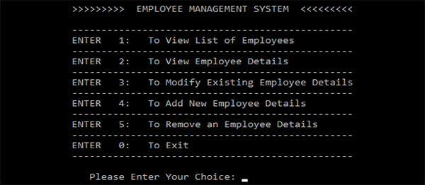 Employee Management System In C++ With Source Code | Source