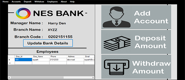 Bank Management System In VB.NET With Source Code