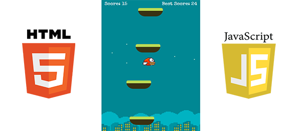 Flappy Jump Game In HTML5, JavaScript With Source Code