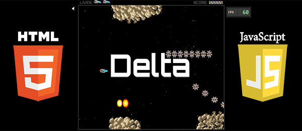 Delta Game In HTML5, JavaScript With Source Code