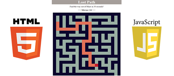 Maze Game In HTML5, JavaScript With Source Code