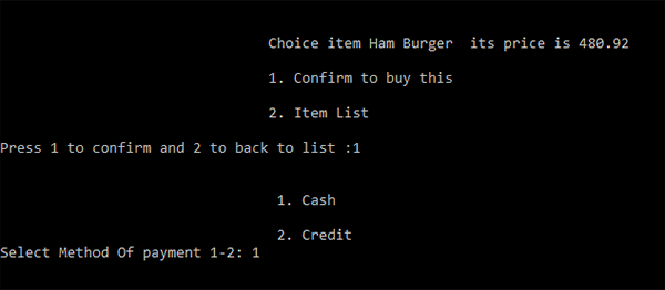 Fast Food Ordering System In C++ With Source Code
