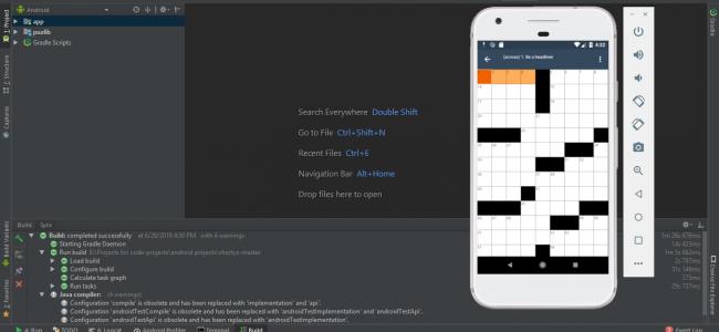 PROJET Jeu de mots croisés sur Android avec code source