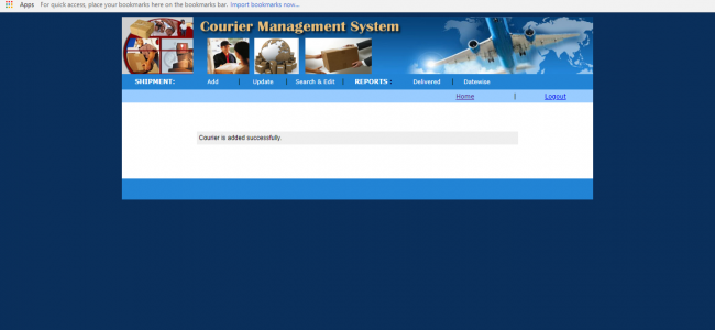 Courier Management System In PHP With Source Code | Source Code