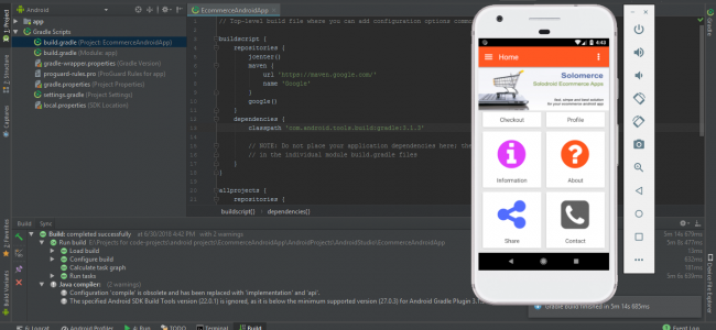 Simple android app source code