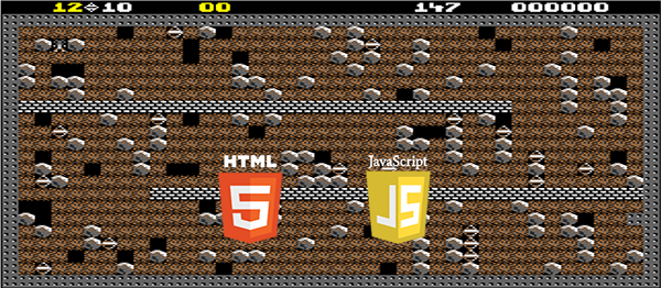 Boulder Dash Game In HTML5, JavaScript With Source Code | Source