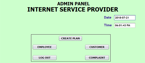 Internet Service Provider In Java With Source Code