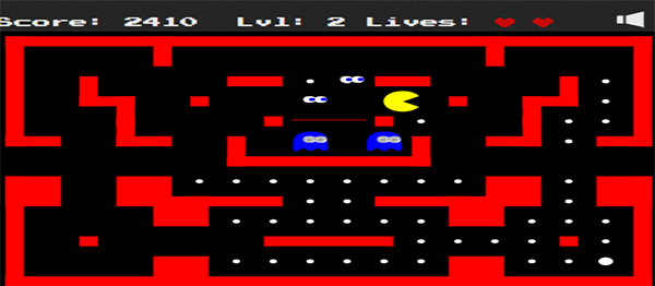 Canvas Pacman Game In JavaScript With Source Code