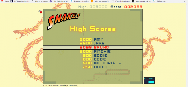 Snakes Game In HTML5, JavaScript With Source Code | Source