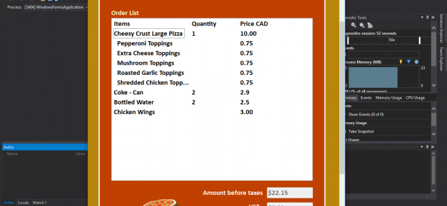 Pizza Ordering System In C# With Source Code | Source Code