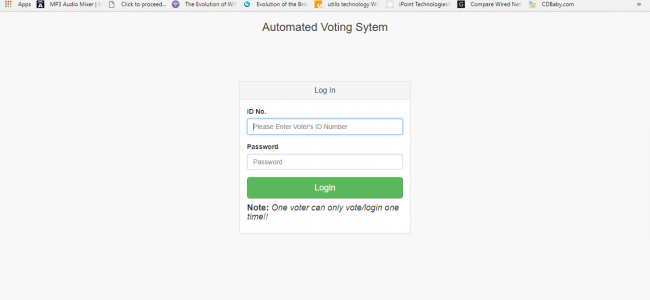 Automated Voting System In PHP With Source Code | Source