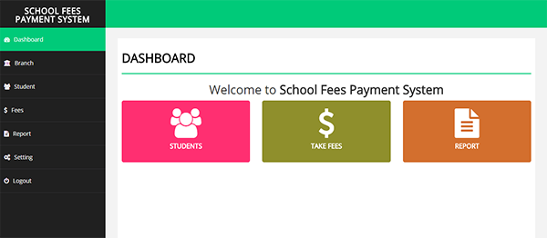 School Fees Payment System In PHP With Source Code
