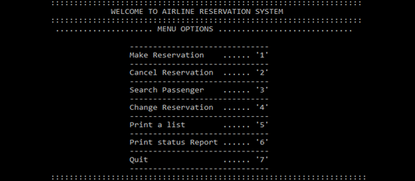 Simple Airlines Reservation System In C++ With Source Code