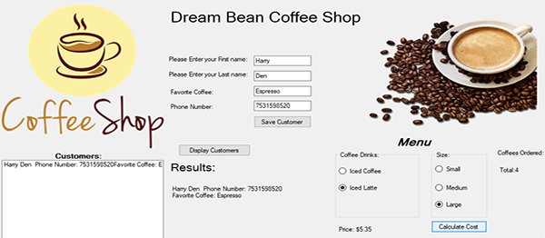 Simple Coffee Shop System In C# With Source Code