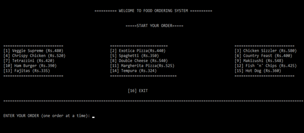 Food Ordering System In C++ With Source Code