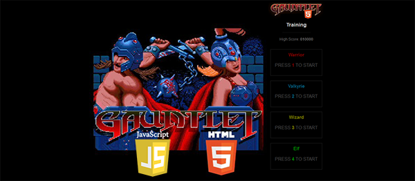 Gauntlet Game In HTML5, JavaScript With Source Code