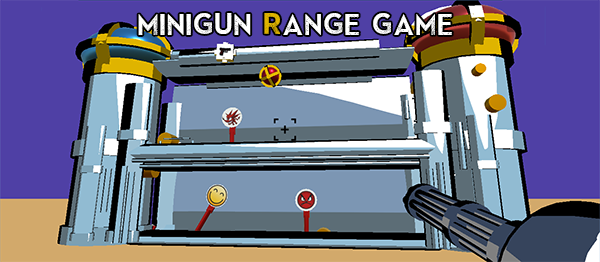 MiniGun Range Game In UNITY ENGINE With Source Code