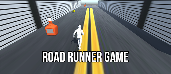 Road Runner Game In UNITY ENGINE With Source Code