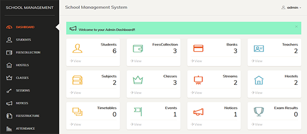 School Management System In PHP With Source Code