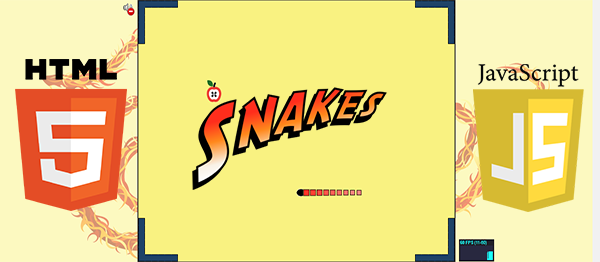 Snakes Game In HTML5, JavaScript With Source Code