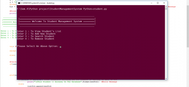 Simple Student Management System In PYTHON With Source Code   Source