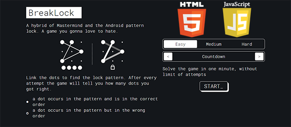 Break Lock Challenge Game In JavaScript With Source Code