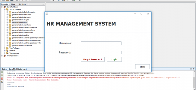 HR Management System In Java With Source Code | Source Code & Projects