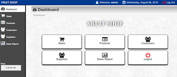 Fruit Shop Management System In PHP With Source Code