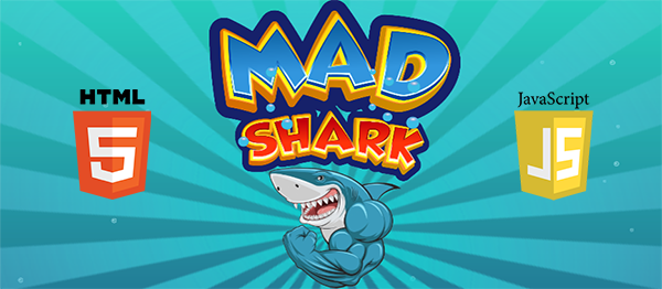 Mad Shark Game In HTML5 And JavaScript With Source Code