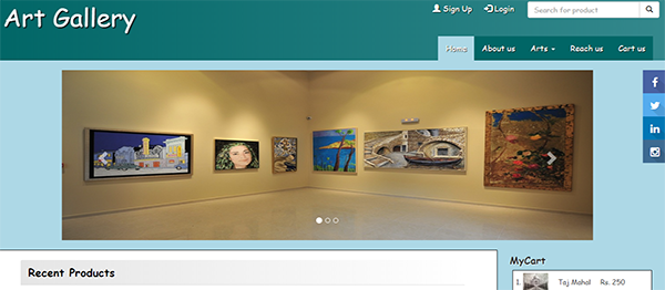 Simple Art Gallery In PHP With Source Code