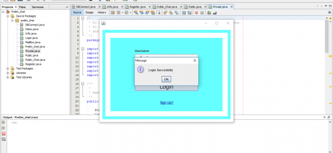 Simple Chat System In Java With Source Code | Source Code