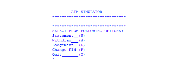 ATM Simulator In PYTHON With Source Code | Source Code