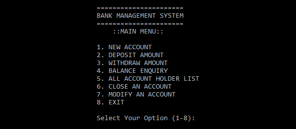 Bank Management System In C++ With Source Code