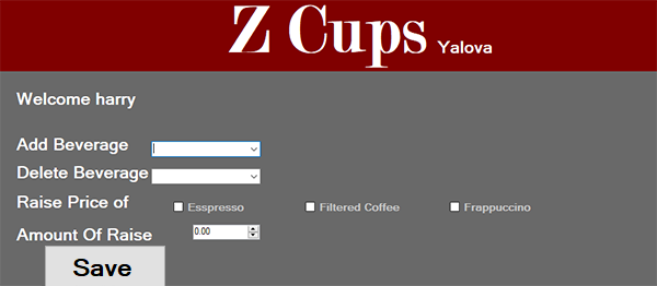 Coffee Shop System In C# With Source Code