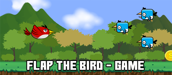 Flap The Bird Game In UNITY ENGINE With Source Code