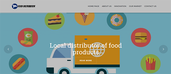 Food Distributor Site In PHP With Source Code