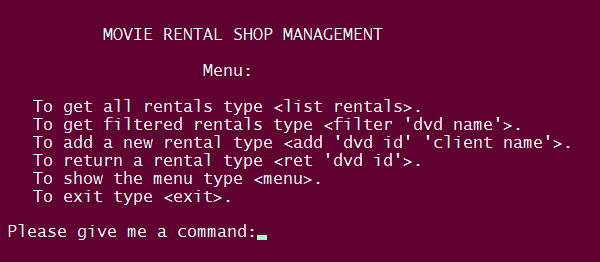 Movie Rental Shop Management System In PYTHON With Source Code