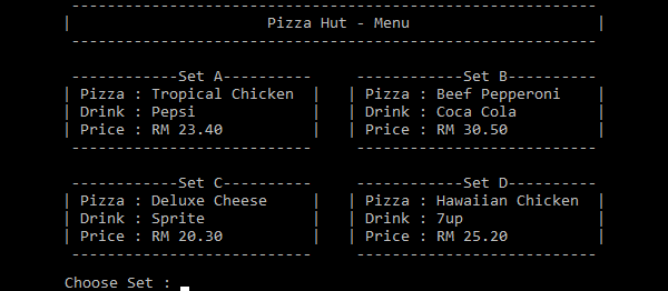 Pizza Ordering System In C++ With Source Code