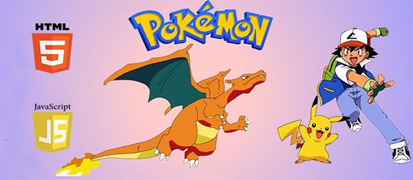 Pokemon Game In HTML5, JavaScript With Source Code
