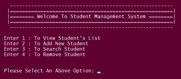 Simple Student Management System In PYTHON With Source Code
