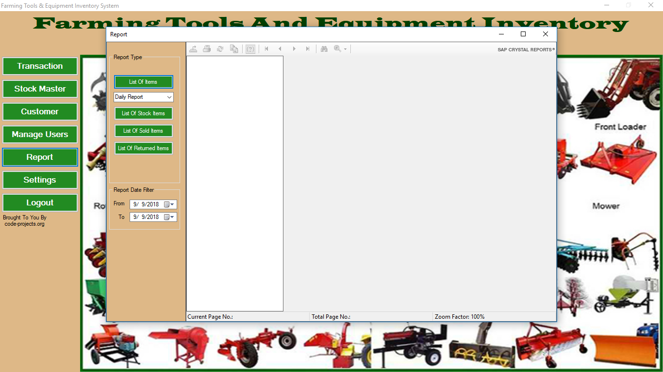 farming tools and equipment inventory system in vb net with source