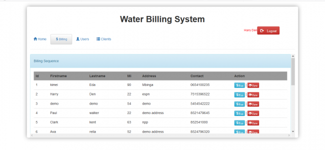 Water Billing System In PHP With Source Code | Source Code & Projects