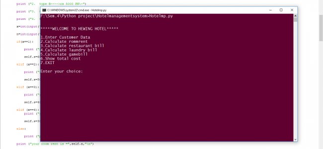 Simple Hotel Management System In PYTHON With Source Code | Source
