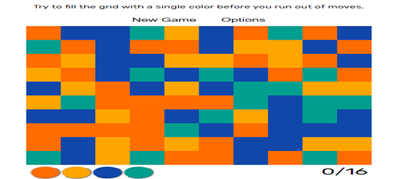 FLOOD COLOR GAME IN JAVASCRIPT WITH SOURCE CODE