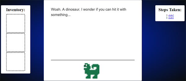 Simple Dino Fiction Game In JavaScript With Source Code