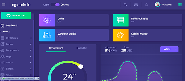 NGX Material Design In AngularJs With Source Code