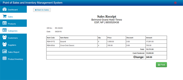 Point of Sales And Inventory Management System In PHP With