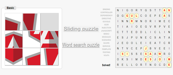 Simple Puzzle Game In AngularJs With Source Code