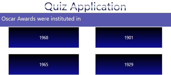 Quiz Application In C# With Source Code